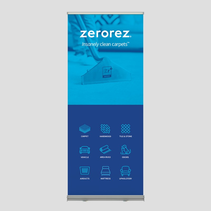 Collapsible Banner - Insanely Blue