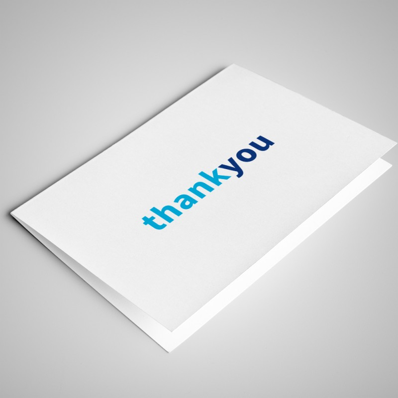 White Thank You Card (pack of 25)